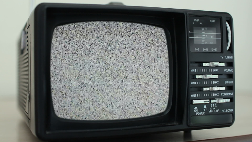 No signal just noise on old analogue TV set | Shutterstock HD Video #1035498713