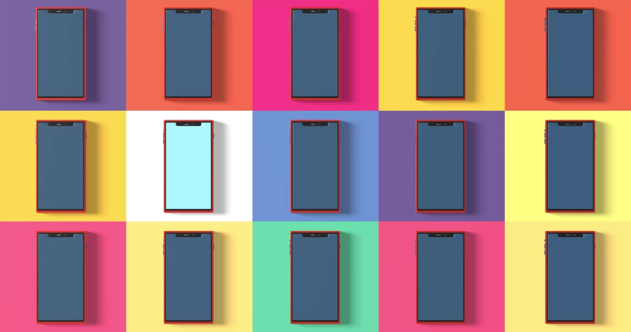 Smartphone frame less blank screen, rotated position. 3d isometric illustration cell phone. Smartphone perspective view. Template for infographics or presentation UI design interface. | Shutterstock HD Video #1035502523
