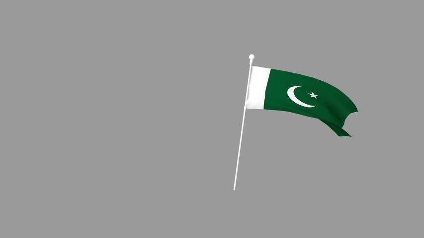 Transparent Flag Pakistan  Animated for Pakistan  | Shutterstock HD Video #1035515003