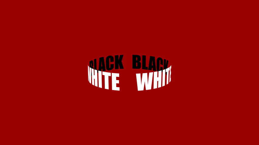 Spinning ring. White and black. Text animation. Minimal motion design.   Shutterstock HD Video #1035618743