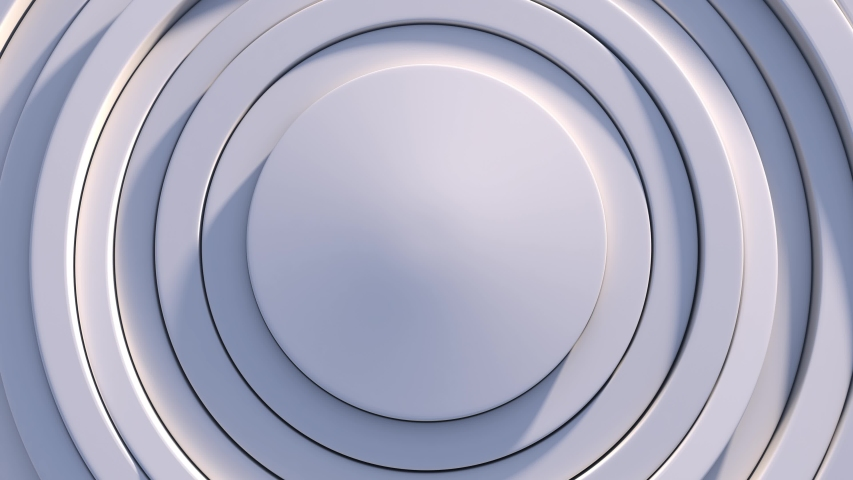 4k 3d circles pattern animation. White clean rings . Abstract background | Shutterstock HD Video #1035681833