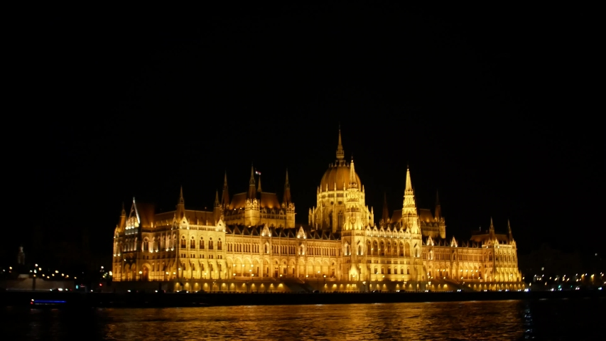 Budapest Night Parliament shooting in 4k format | Shutterstock HD Video #1035910073