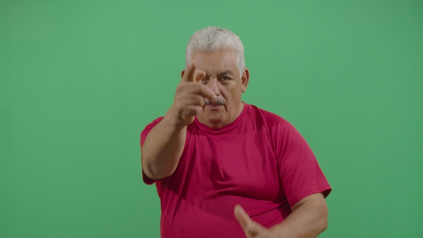 Aggressive Adult Man Executing The Viewer With The Hand In Shape Of A Gun | Shutterstock HD Video #1036693163