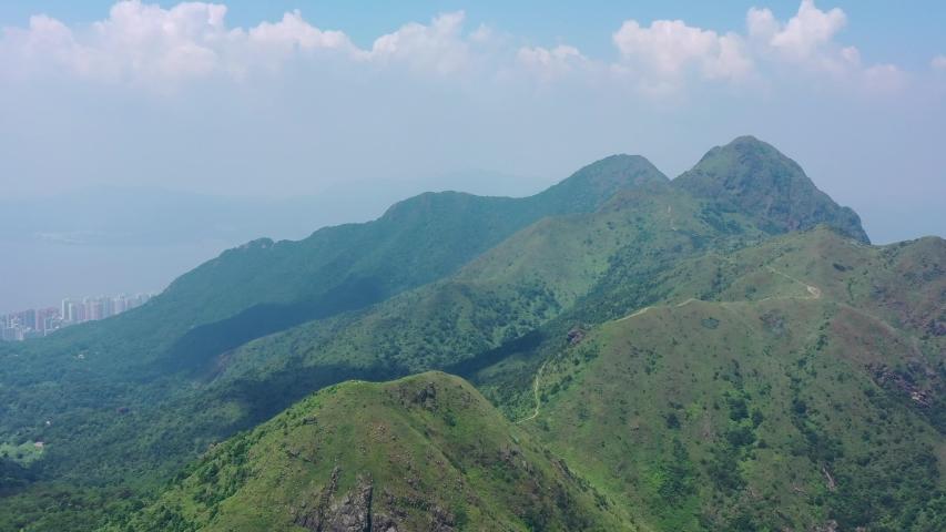 Hiking footpath in Pyramind Hill, Sai Kung, Countryside, Hong Kong | Shutterstock HD Video #1036930463