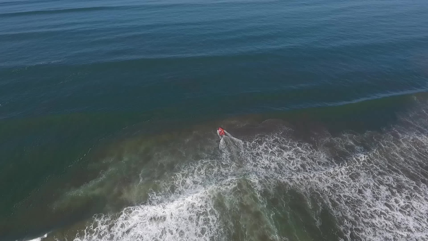 Drone boat on the beach Stock Footage shots #1037078693