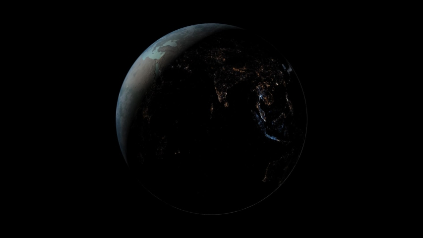 Planet earth in a beautiful cgi super realistic style | Shutterstock HD Video #1037239553