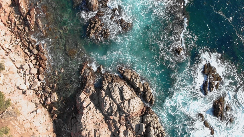 Aerial landscape footage in Costa Brava coastal near town Palamos, Spain   Shutterstock HD Video #1037547383