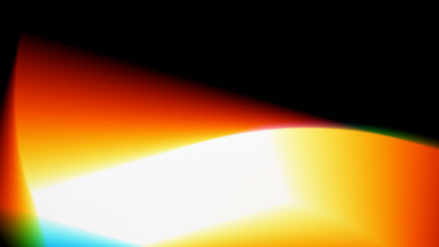 Colourful play of light passing through a prism. | Shutterstock HD Video #1037703563
