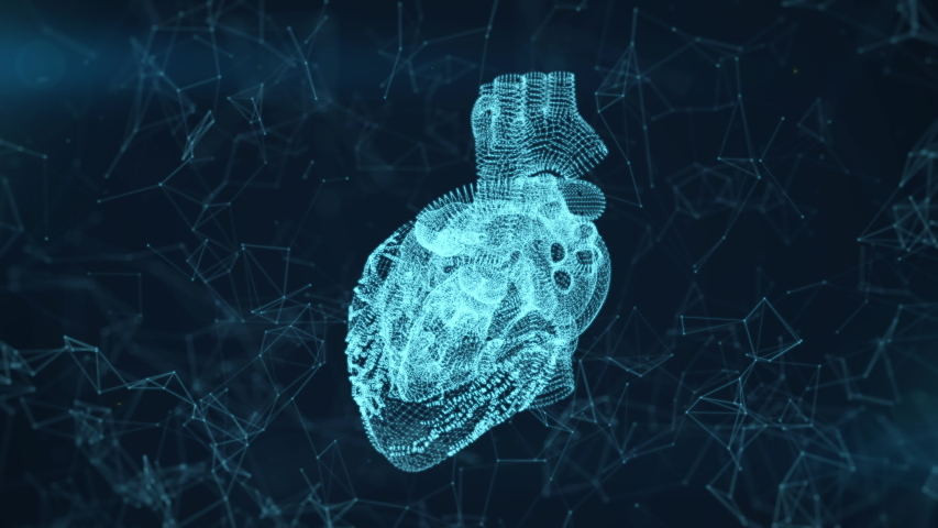 Heart scan animation. The interface for detecting diseases and problems with the cardiovascular system. Medical and scientific footage | Shutterstock HD Video #1037962733