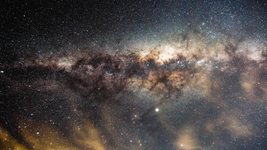 Stars Time Lapse, Space Night Sky Video, Beautiful Bright Star Galaxy Constellation Moving Across Sky, Milky Way Galaxy, Space Exploration Concept #1038340823