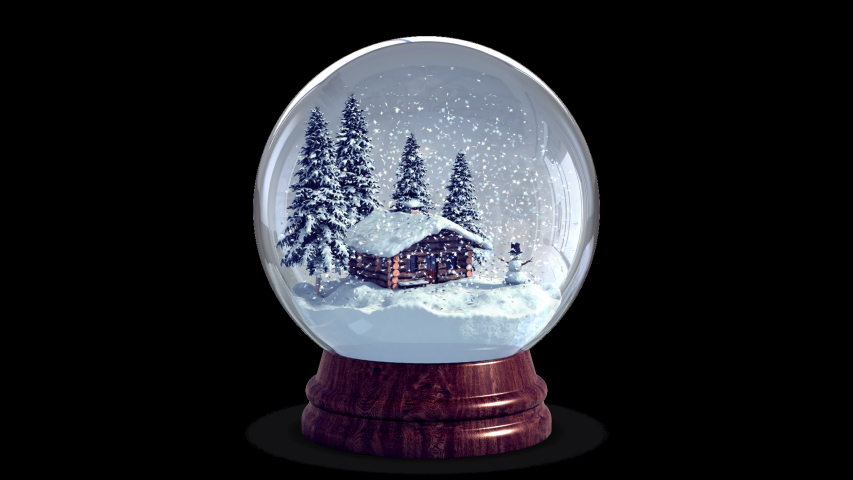 4k Christmas Snow Globe + Chroma Key + Alpha Channel | Shutterstock HD Video #1038352283