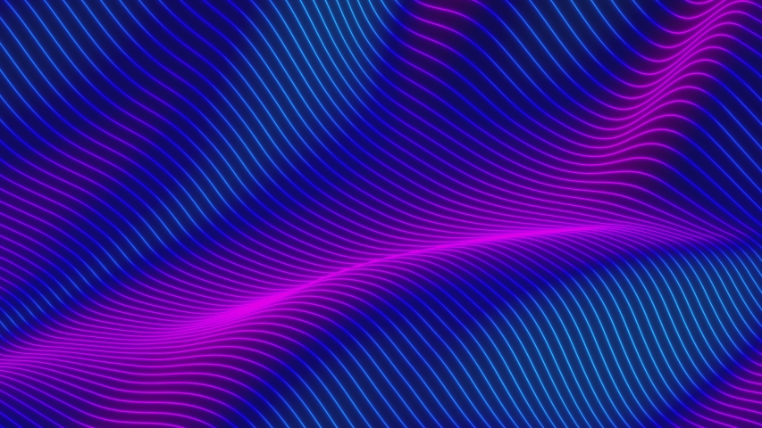 Looped animation. Abstract colorful wavy background in bright rainbow colors. Modern colorful wallpaper. 3d rendering. | Shutterstock HD Video #1038466043