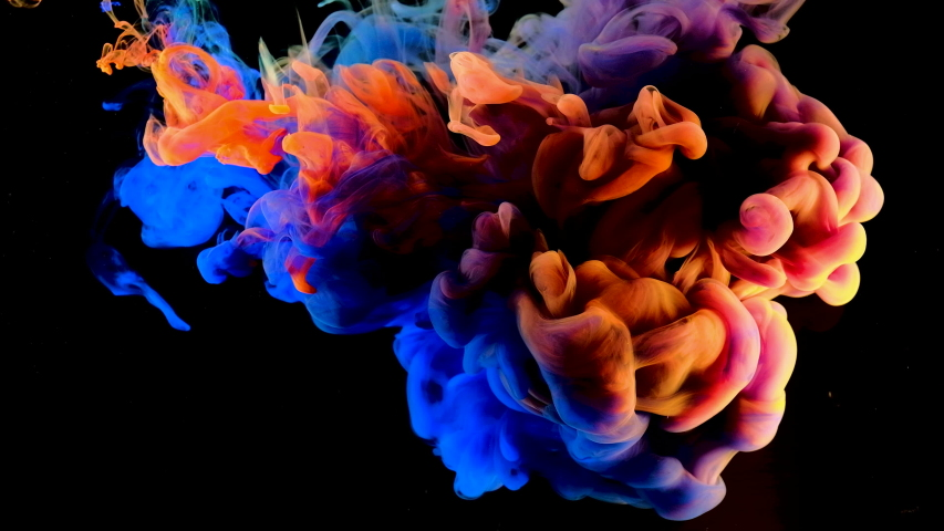 Color paint drops in water , abstract  color mix , drop of Ink color mix paint falling on water Colorful ink in water,  4K footage, | Shutterstock HD Video #1038569093
