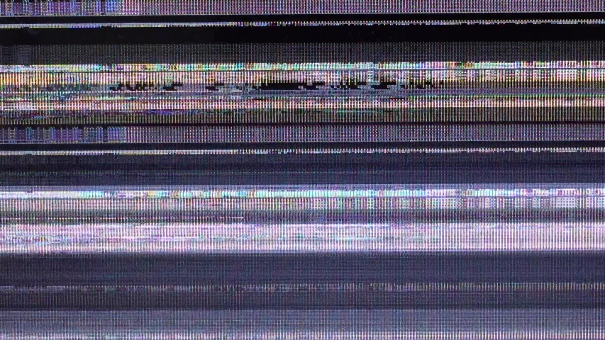 Bad television signal. Breakage of the monitor. | Shutterstock HD Video #1038593573