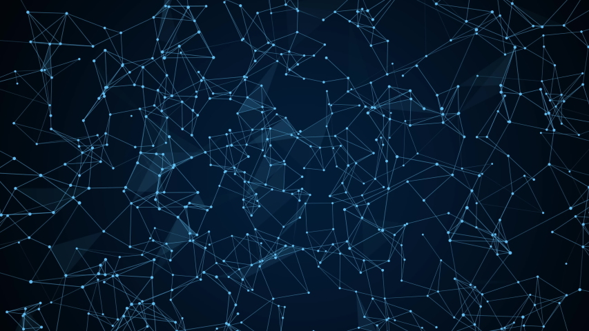 Plexus of abstract network connection background. | Shutterstock HD Video #1038934553