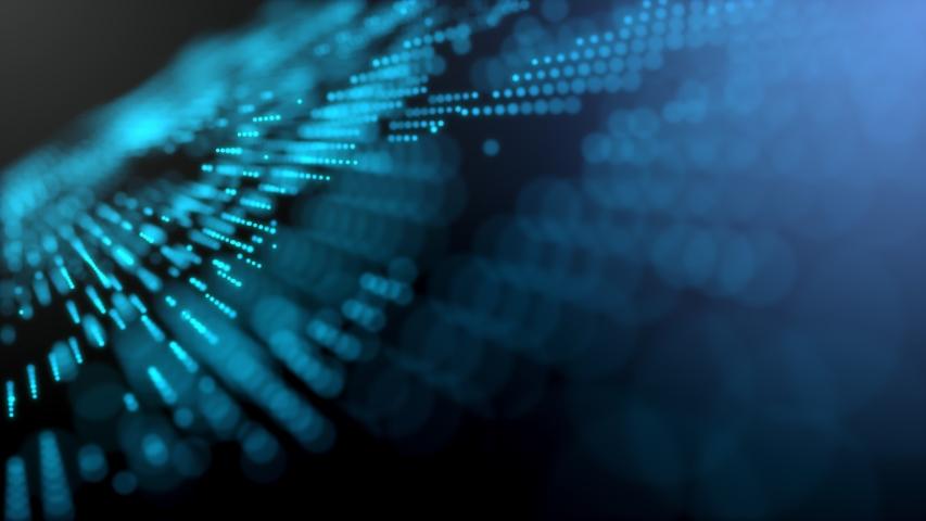 Blue futuristic stream Data Communication flying into digital technologic animation 3D rendering | Shutterstock HD Video #1039201913