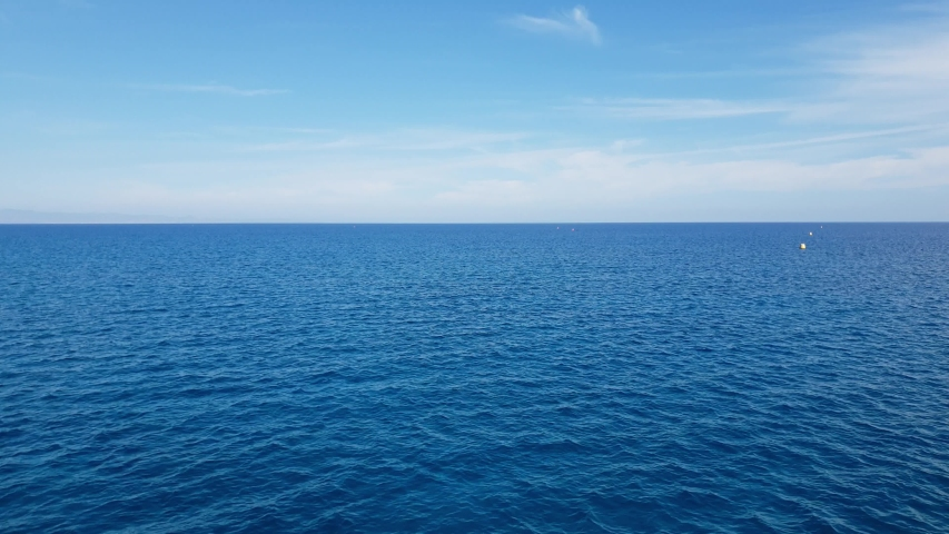 Movement above the surface of the Mediterranean Sea #1039377743