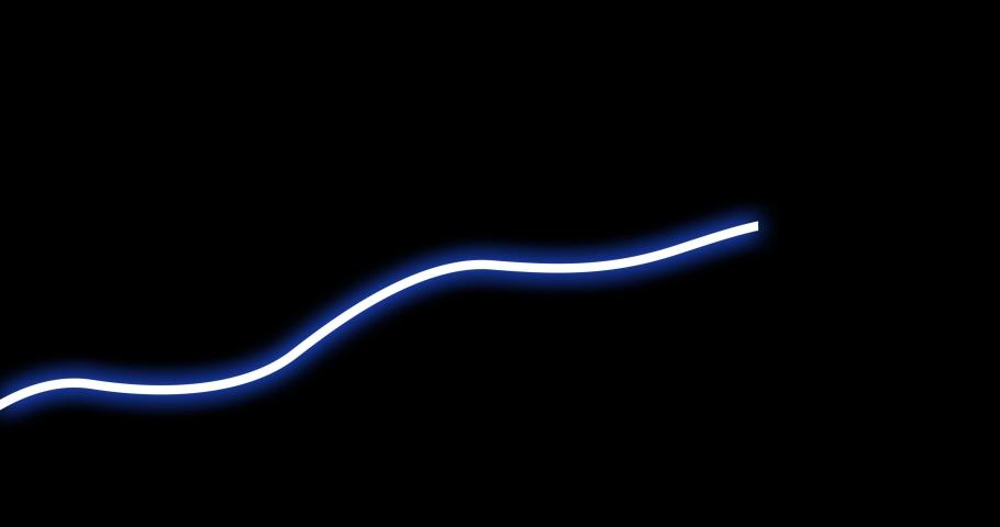 Neon light line movement on black background | Shutterstock HD Video #1039526453