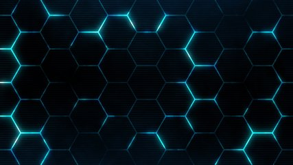 Futuristic surface concept with hexagons. Trendy sci-fi technology background with hexagonal pattern. Seamless loop.