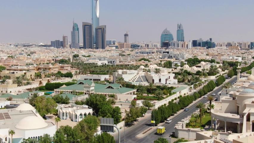 Riyadh (SAUDI ARABIA) - City Panorama View - Aerial Footage - Riprese Aeree 4K | Shutterstock HD Video #1040051273