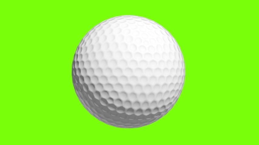 Golf ball Rotating in Motion on Green Screen. Looped golf ball 3d Animation of Turning Ball luma key black-white alpha | Shutterstock HD Video #1040066273