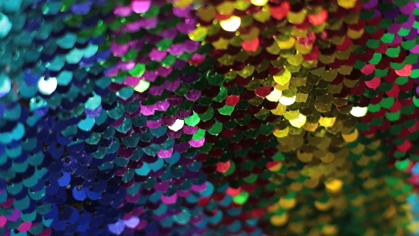 Shiny texture background iridescent multicolor sequins macro photo | Shutterstock HD Video #1040196143