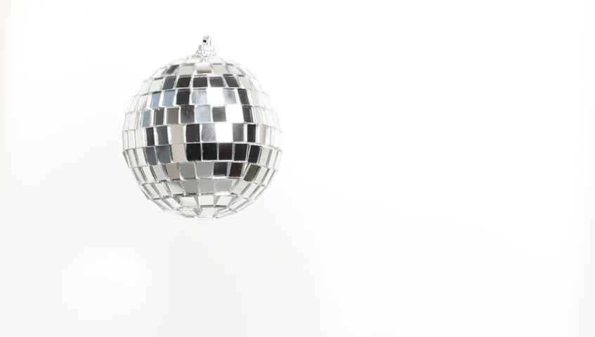 Disco Mirror Ball Spinning on white background | Shutterstock HD Video #1040469713