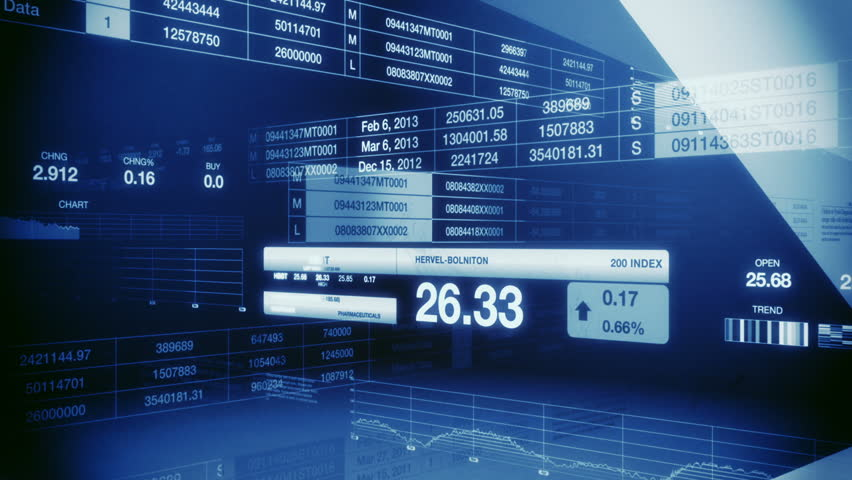 Stock Market Tickers Blue Seamless Loop | Shutterstock HD Video #1040563