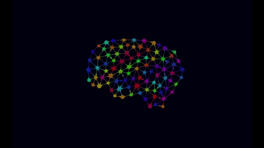 Creative colorful mind connection animation | Shutterstock HD Video #1040616533