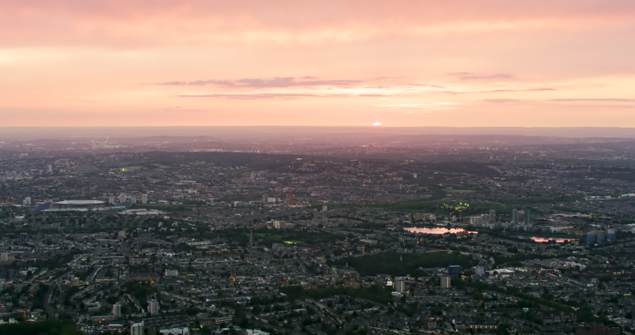Amazing aerial view of London during sunset. England. Shot on Red Weapon 8K. | Shutterstock HD Video #1040869253
