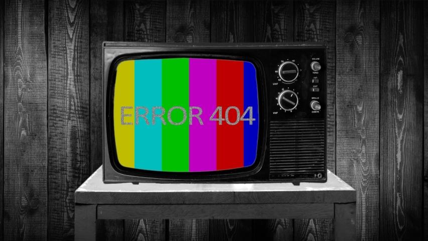 ERROR 404 tv no signal vertical color bars, retro tv static letters   Shutterstock HD Video #1040936723
