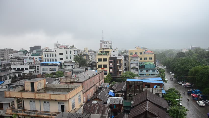 Cityscape of Mandalay City While Stock Footage Video (100 ...