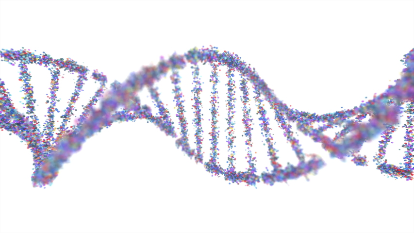 Genetic Syndrome and Genetic Disorder, 3D illustration of science concept. Colorful DNA molecule.   Shutterstock HD Video #1041006803