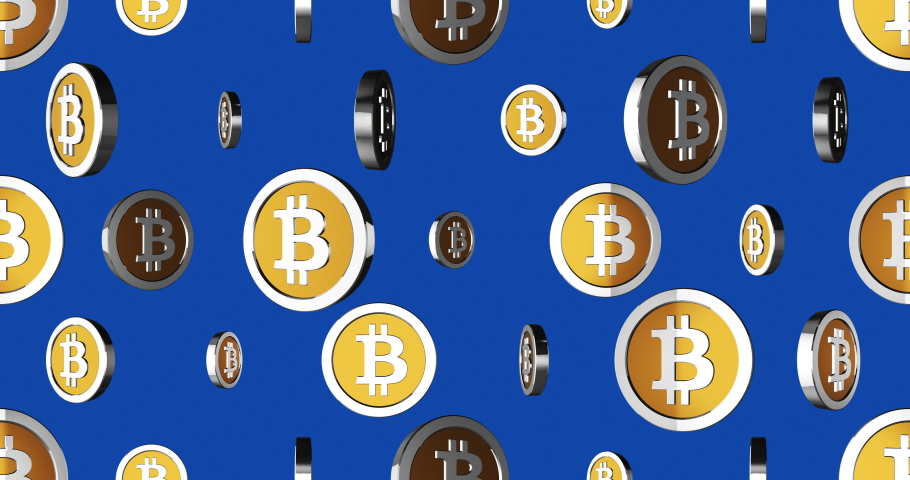 Conceptual simple symbol of bitcoin with looped animation | Shutterstock HD Video #1041206773