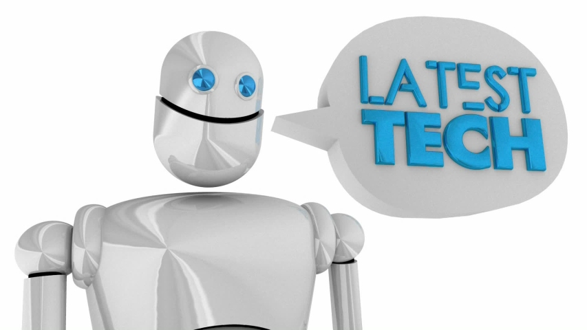 Latest Technology Robot Speech Bubble New Innovative Products 3d Animation | Shutterstock HD Video #1041309073