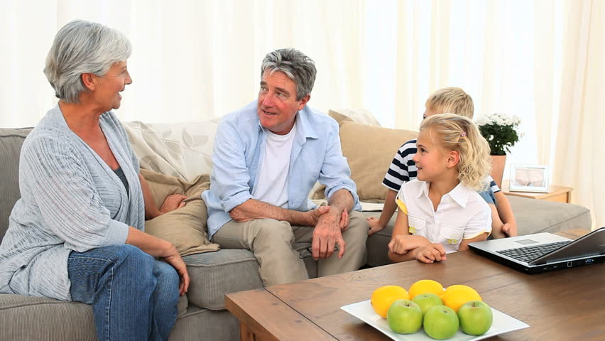 Family Talking in the Living Stock Footage Video (100% Royalty-free)  1041403 | Shutterstock