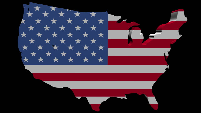 Planes Departing Usa Map Flag Stock Footage Video (100% Royalty ...