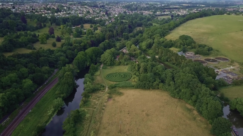 Avoncliff/England   Aerial video of Avoncliff village in west Wiltshire     taken by drone camera | Shutterstock HD Video #1042128643
