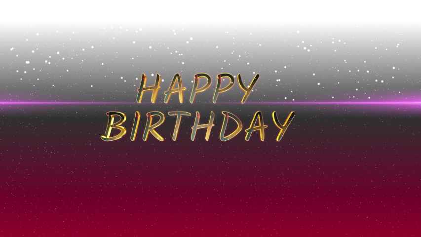 Two templates for Birthdays with separate backgrounds, there are star like particle effects in the upper half of the designs and the text Happy Birthday.  | Shutterstock HD Video #1042613473
