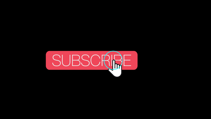 Subscribe and Click the Bell Notification Icon Floating 4k Transparent Video | Shutterstock HD Video #1042875883