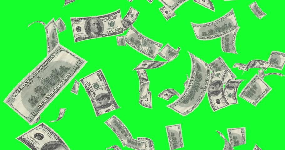 Dollar Bills Rain on a Green Screen | Shutterstock HD Video #1043167273
