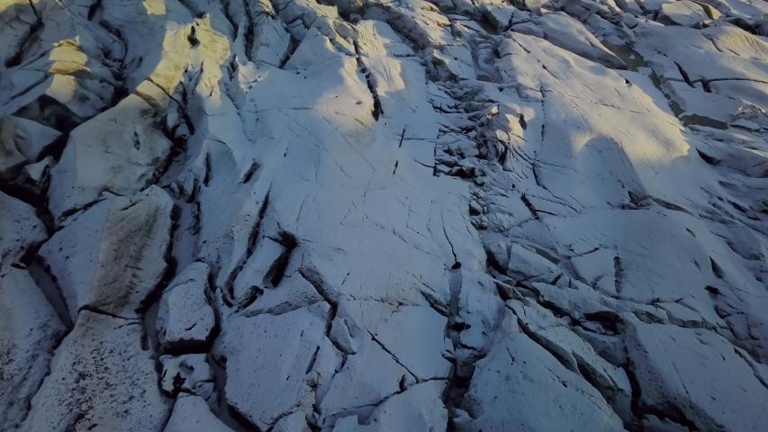 Aerial view of Vatnajokull Glacier, Iceland  | Shutterstock HD Video #1044596773