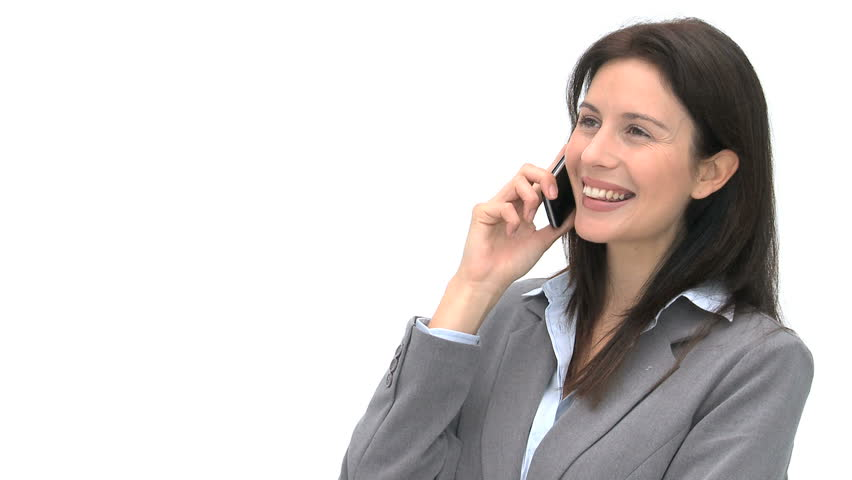 Happy Businesswoman Talking On The Stock Footage Video 100 Royalty Free 1044883 Shutterstock