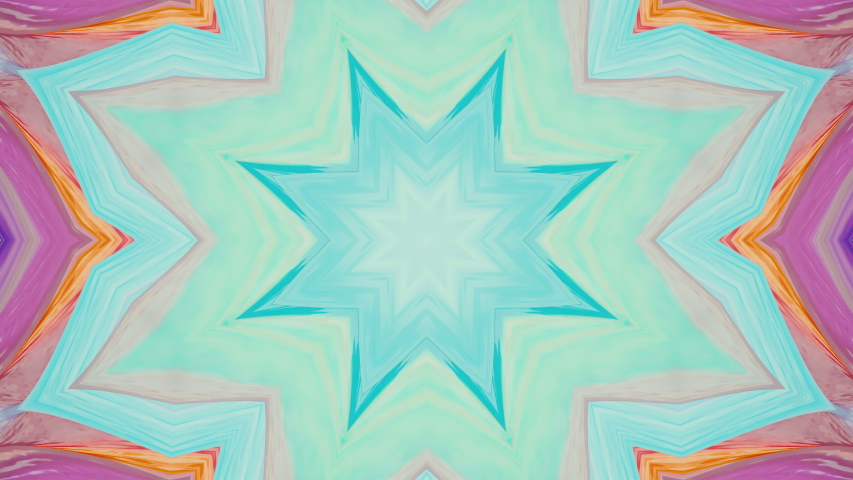 Flower concept. Spring or summer background. Abstract colorful animated kaleidoscope background. Art hypnotic kaleidoscope. Seamless looping animation   Shutterstock HD Video #1044957403