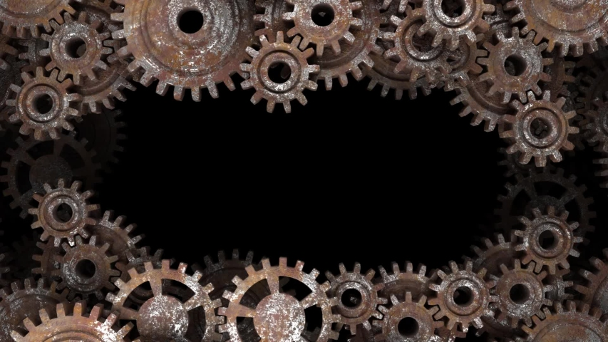 Old vintage frame from rusty gears. Photo Frame.   Shutterstock HD Video #1045005373