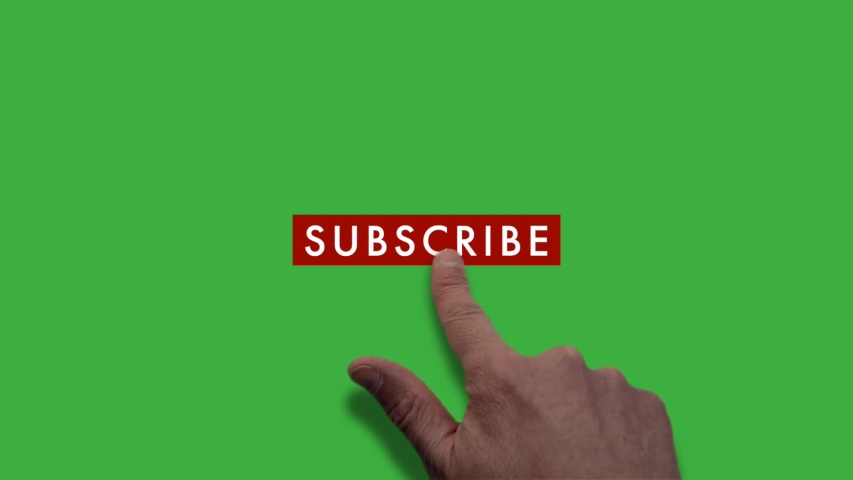 Pushing subscribe button with finger, green screen version | Shutterstock HD Video #1045102753