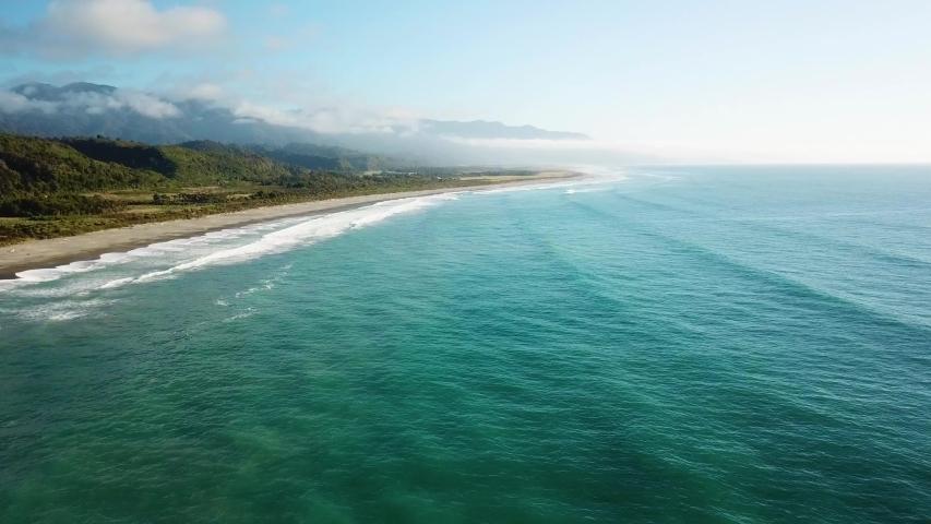 New Zealand West Coast Drone Clip | Shutterstock HD Video #1045194463