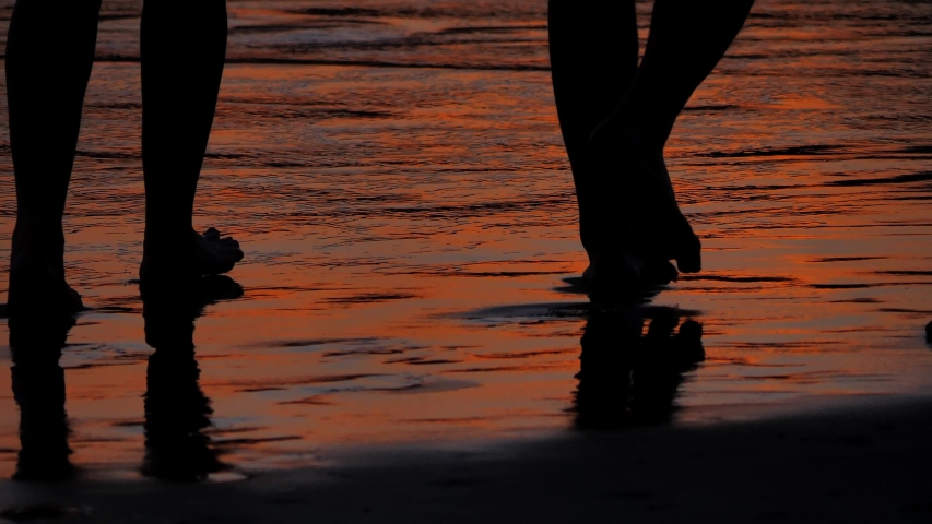 Close up of footsteps Silhouette | Shutterstock HD Video #1045365943