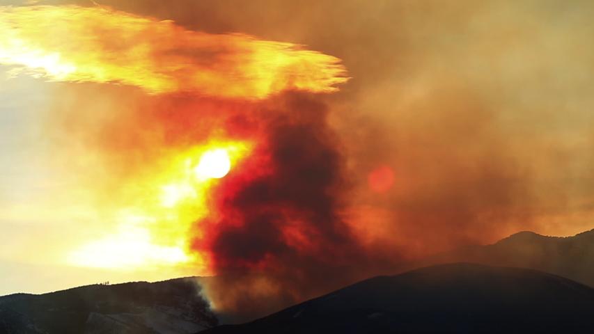 Brush Fire on Peavine Mountain Reno Nevada Time Lapse.   Shutterstock HD Video #1045797553