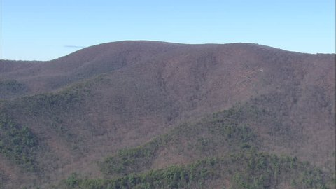 AERIAL United States-Ridge Lines In Chattahoochee National Forest 2008